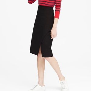 Banana Republic wrap front black pencil skirt 2